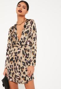 nude-leopard-wrap-front-shift-dress